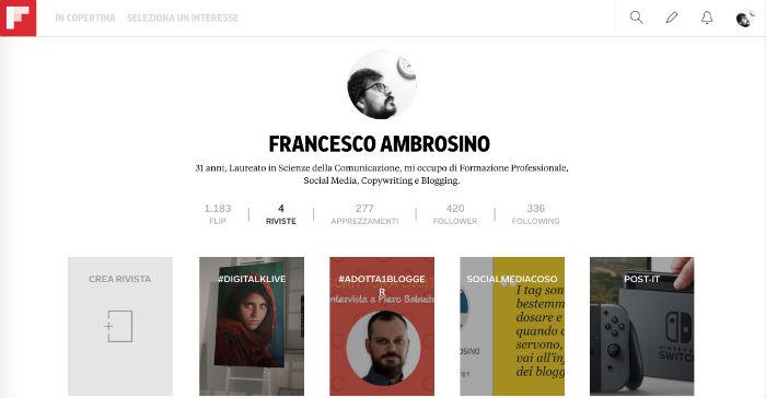 flipboard profilo