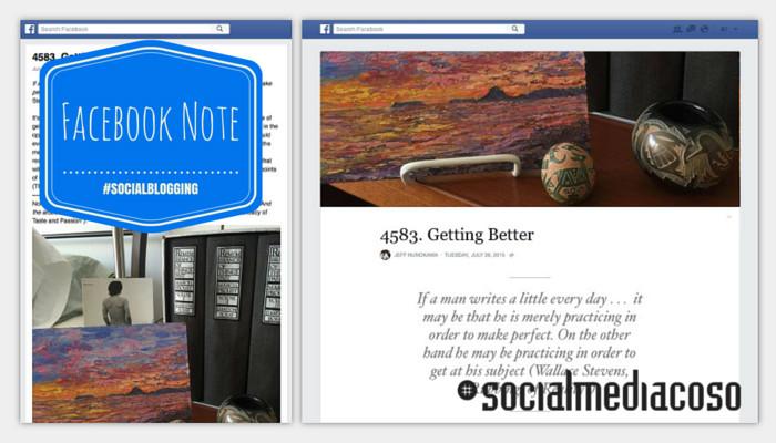Facebook Note - pro e contro