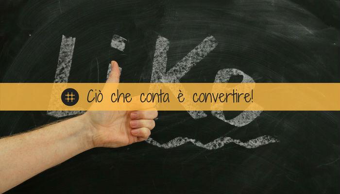 Social media marketing conversione