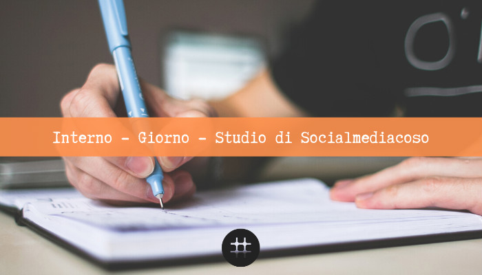 sceneggiatura e blogging